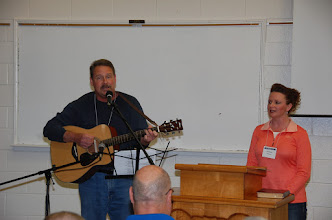 Photo: Mike and Jill warm us up with music