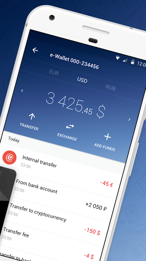 ePayments – electronic wallet- screenshot
