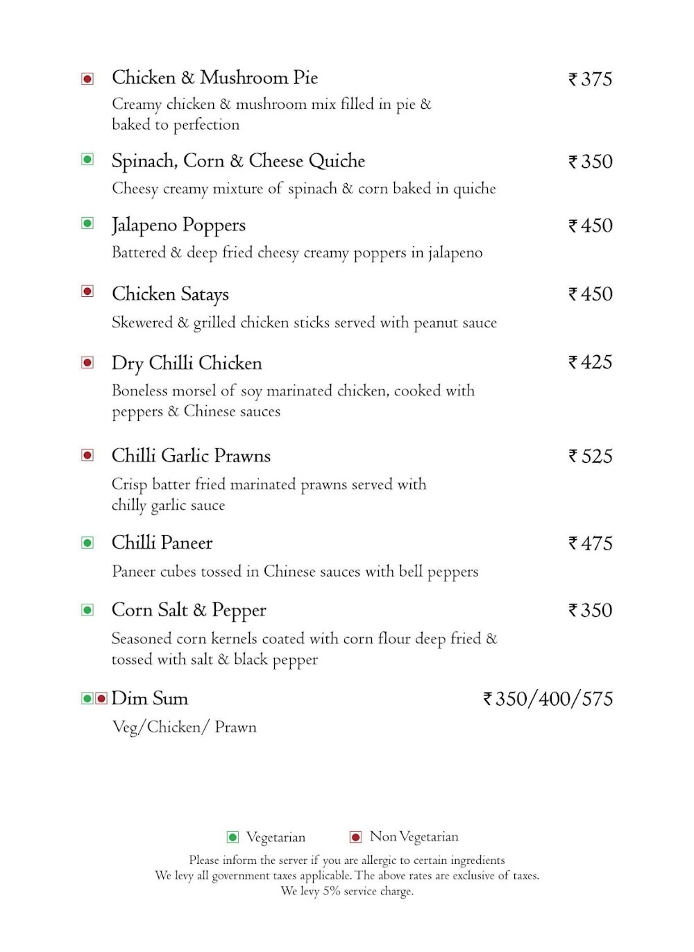 Branche - Golden Tulip Suites menu 15