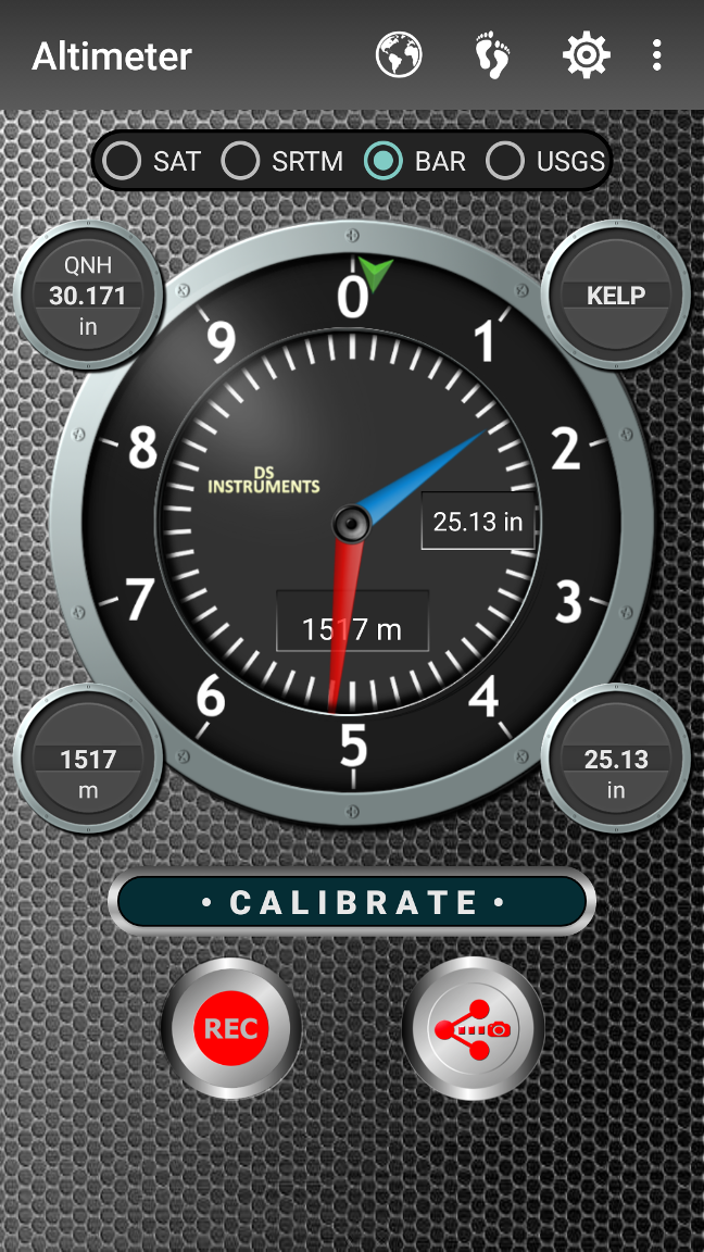 DS Altimeter Screenshot 2
