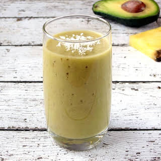 Pineapple Banana Avocado Smoothie.
