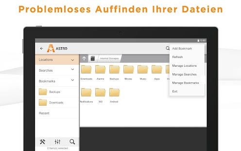 ASTRO Dateimanager Screenshot