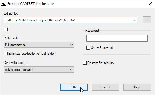 Into version folder