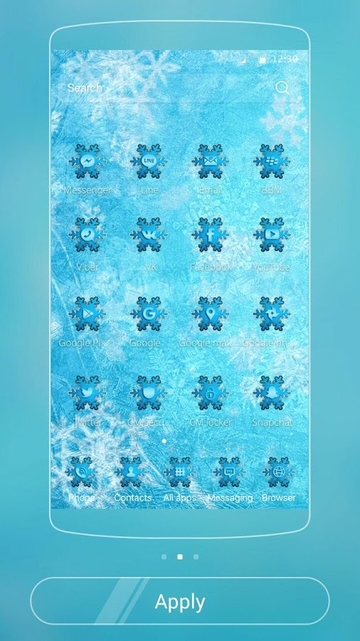 Theme Ice Frozen Snow- screenshot