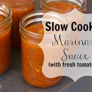 Slow Cooker Marinara Sauce.