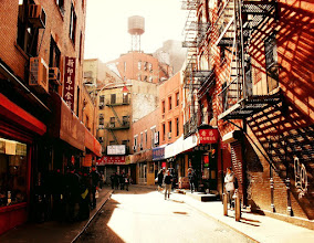 Photo: Doyers Street. Chinatown, New York City.View the writing that accompanies this post here at this link on Google Plus:https://plus.google.com/108527329601014444443/posts/4j2YcR99wDyView more New York City photography by Vivienne Gucwa here:http://nythroughthelens.com/