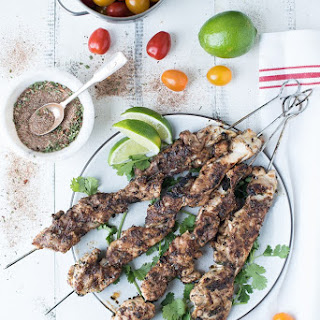 Jerk Chicken Thigh Skewers Recipe