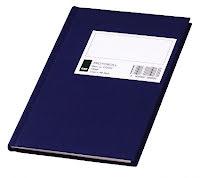 Protokoll 10,5x17cm. linjert 64 blad blå A6/oktav (Org.nr.270250)