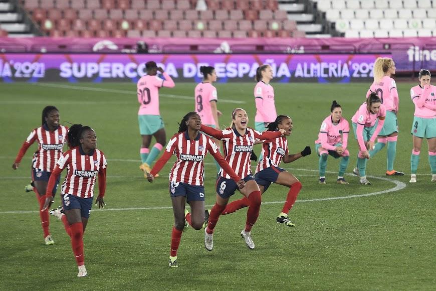 Instante en el que el Atlético pasa a la final.
