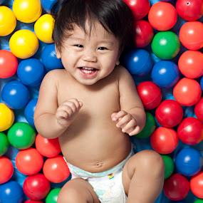 Giggles by Jon Gonzales - Babies & Children Children Candids ( infant, baby )