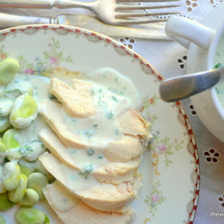 Parslied Bread Sauce with Poached Chicken