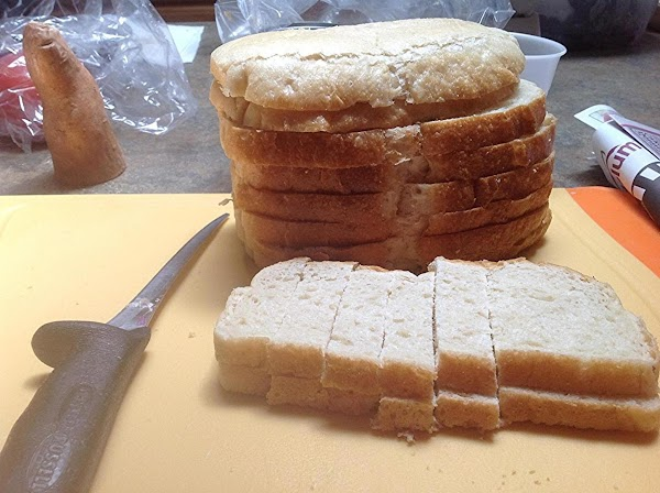 PREHEAT OVEN TO 350 DEGREES F. Using a sharp knife, stack a few slices...