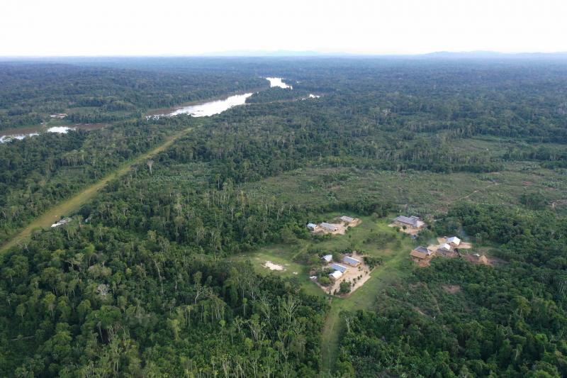 Деревня Вайкас, где живёт 150 человек народа еквана.