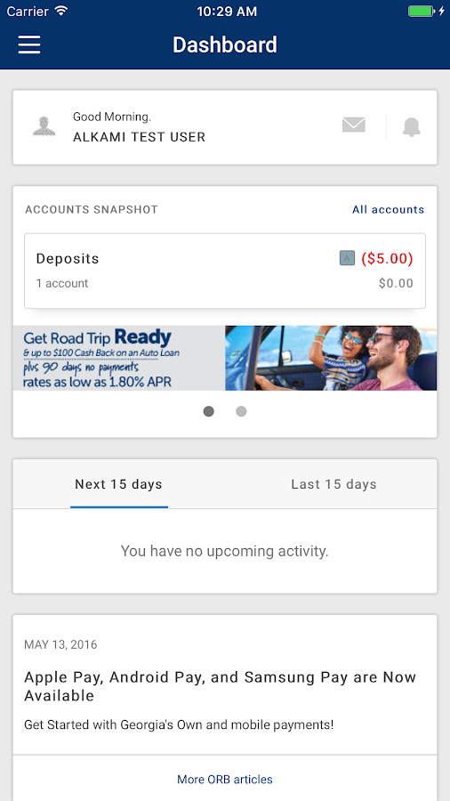 Georgia's Own Mobile Banking- screenshot