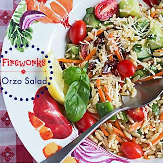 Orzo Summer Vegetable Pasta Salad Recipe