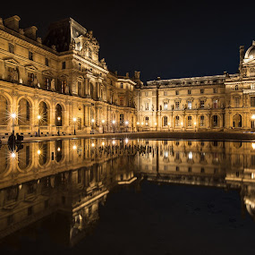 Musee Du Lourve by Nicholas  H - Buildings & Architecture Public & Historical ( night, lights,  )