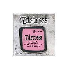 Tim Holtz Distress Enamel Collector Pin - Kitsch Flamingo