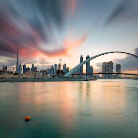 Dubai Canal Park by Ricky Pagador - City,  Street & Park  City Parks ( park, waterscape, cityscape, city park, city )