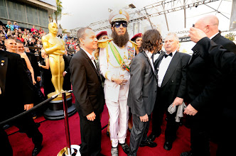 """Photo: Sasha Baron Cohen arrives in character as """"The Dictator"""" at the 84th annual Academy Awards. Photo by Robert Hanashiro, USA TODAY."""