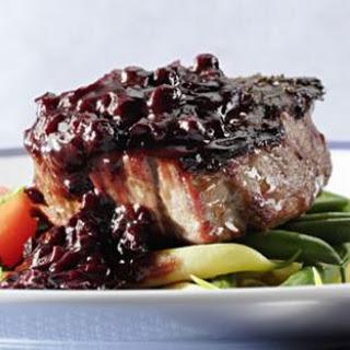 Filet Mignon with Blueberry-Bourbon Barbecue Sauce