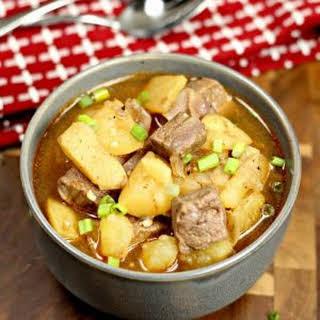 Crock pot Steak and Potatoes Beef Stew.