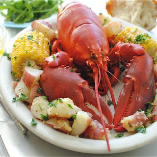 Fresh Lobster with Potatoes and Corn.