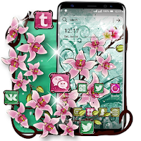Pink Flower Painting Launcher Theme