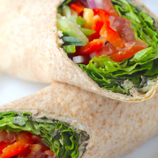 Veggie Wraps with Spicy Yogurt Spread