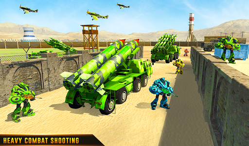 US Army Robot Missile Attack: Truck Robot Games modavailable screenshots 21