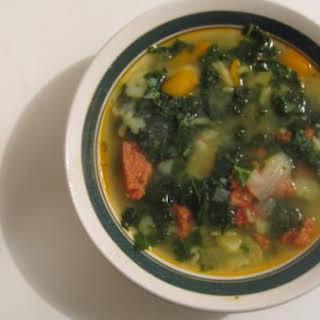 Caldo Verde - Portuguese Kale Soup.