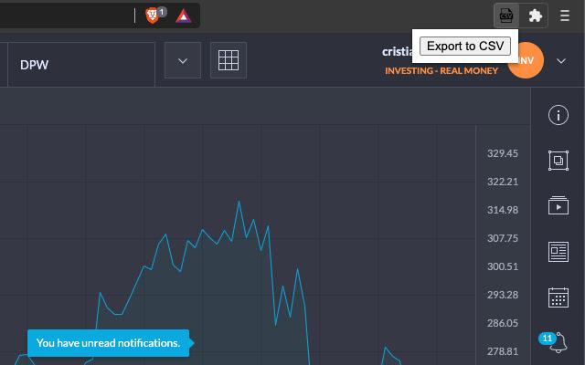 Trading212 CSV Exporter Lite