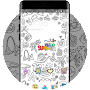 Coloring Book Wallpaper-Neat Theme for Galaxy S8 APK icon