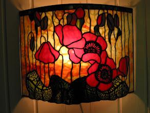 Photo: halfronde lamp - door Astrid Brunt