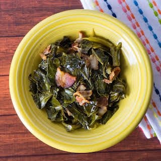 Pressure Cooker Collard Greens with Bacon.