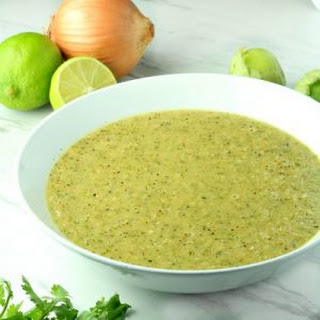 Zesty Tomatillo and Lime Sauce.