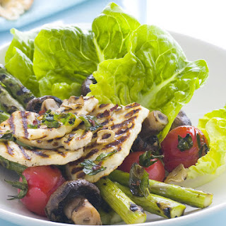 Grilled Haloumi and Warm Vegetable Salad.