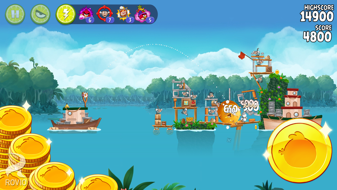 Angry Birds Rio: captura de pantalla