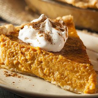 Thanksgiving Baileys Irish cream pumpkin pie.