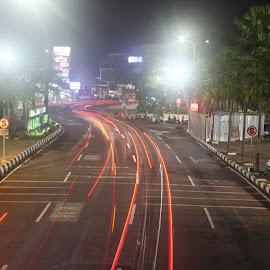 Traffic by Imam Sahroni - Abstract Light Painting ( slowspeed, traffic )