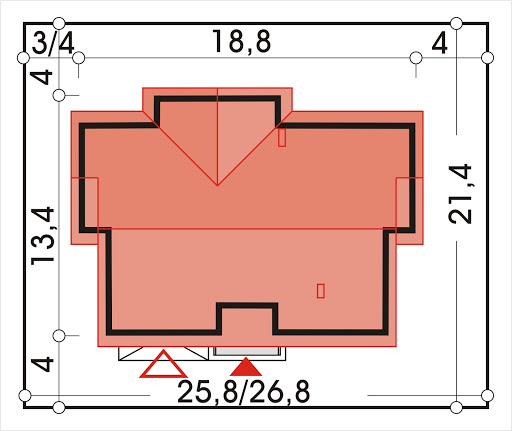 Agatka wersja B dach 32 stopnie - Sytuacja