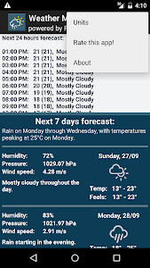 Weather forecast for week screenshot 3