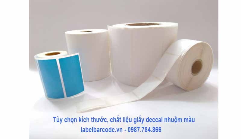 Lựa chọn giấy decal nhuộm màu với đầy đủ kích thước, màu sắc khác nhau