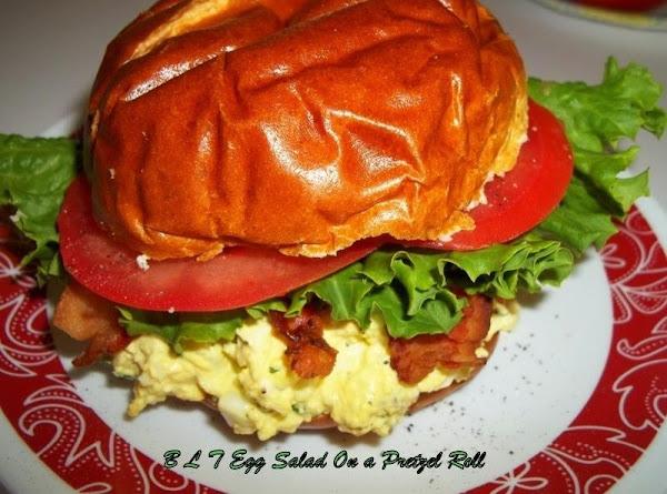B L T Egg Salad On A Pretzel Roll Recipe