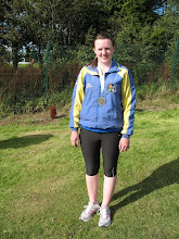 Photo: Ciara Mocker, winner of the Pewter medal for 4th place in the Girls U/14 Shot Putt at the National Community Games Finals 2011