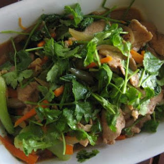 Coriander Pork With Baby Bok Choy