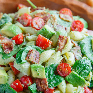 Avocado BLT Pasta Salad.