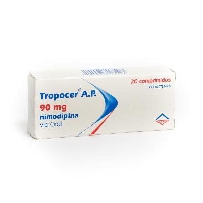Nimodipina Tropocer A.P. 90 mg x 20 Comprimidos  Leti 90 mg x 20 Comprimidos