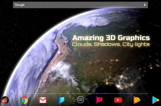 Earth & Moon in HD Gyro 3D Parallax Live Wallpaper 2.4 screenshots 2