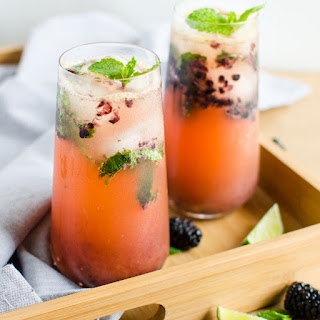 Non Alcoholic Blackberry Mojito.