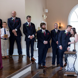 Sch and Ty by Angela Hollowell - Wedding Ceremony ( serenade, groomsmen, bride, groom, wedding ceremony )